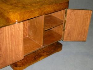 m bel art d co schreibtisch 1920er jahre wurzelholz und palisanderfurnier. Black Bedroom Furniture Sets. Home Design Ideas