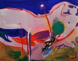 Gönül Sen-Menzel, akrylmaleri, 'Landschaft IV'