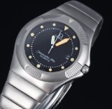 Omega 'Seamaster 120M Recife'. Men's watch, oxidized steel, c. 1985