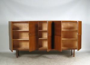 gro es sideboard der 1960er jahre von wk m bel germany. Black Bedroom Furniture Sets. Home Design Ideas