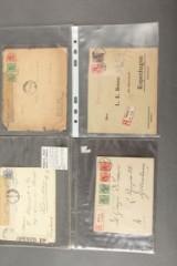 Spændende samling bedre breve, bl.a. meget Censur og special frankeringer