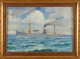Marint motiv oljemålning