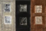 Ubekendt kunstner, akryl og olie på lærred, komposition i tre elementer cd (3)