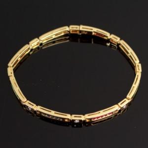 6021256bc136 Armband in 585 - Gelbgold mit 8 x Brillanten zus. ca. 0.24 ct und ...