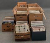 Samling Lp-skivor ca. 900 st. Pop, rock