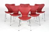 Arne Jacobsen. Sæt på seks stole model 3107 (6)