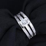 Modern diamond ring, platinum, total approx. 1.46 ct