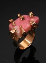 John Rørvig. Ring, 14 kt. gold with Greenlandic tugtupite