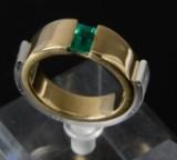 Smaragdring i 14 kt. guld