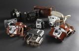 Samling diverse ældre kameraer (9)