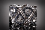 Chopard Pushkin sapphire and diamond ring, 18 kt. white gold
