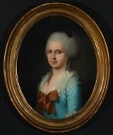 C.A. Lorentzen. Portræt af en ung adelskvinde, ca. 1780'erne