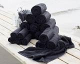 Damask Collection, stor pakke håndklæder af Egyptisk bomuld, 650 gr/kvm, sorte (30)
