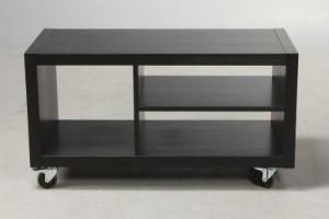 TV-bord på hjul. Sort Ask. | Lauritz.com