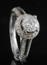 18kt diamond ring approx. 0.75ct