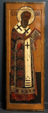 A large Russian church icon. 17th century