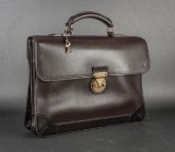 Louis Vuitton. Apache Utah Cafe. Men's briefcase in mocha-brown leather