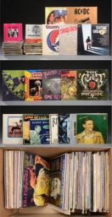 Samling vinylplader, 33 rpm og 45 rpm, ca. 250 stk