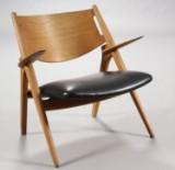 Hans J. Wegner. Sawhorse Chair, Modell CH-28
