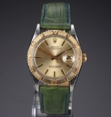 Rolex 'Datejust Turn-O-Graph'. Vintage men's watch, 18 kt. gold and steel, c. 1976