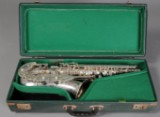 Julius Keilwerth, S-alt saxofon i kasse i original kasse.