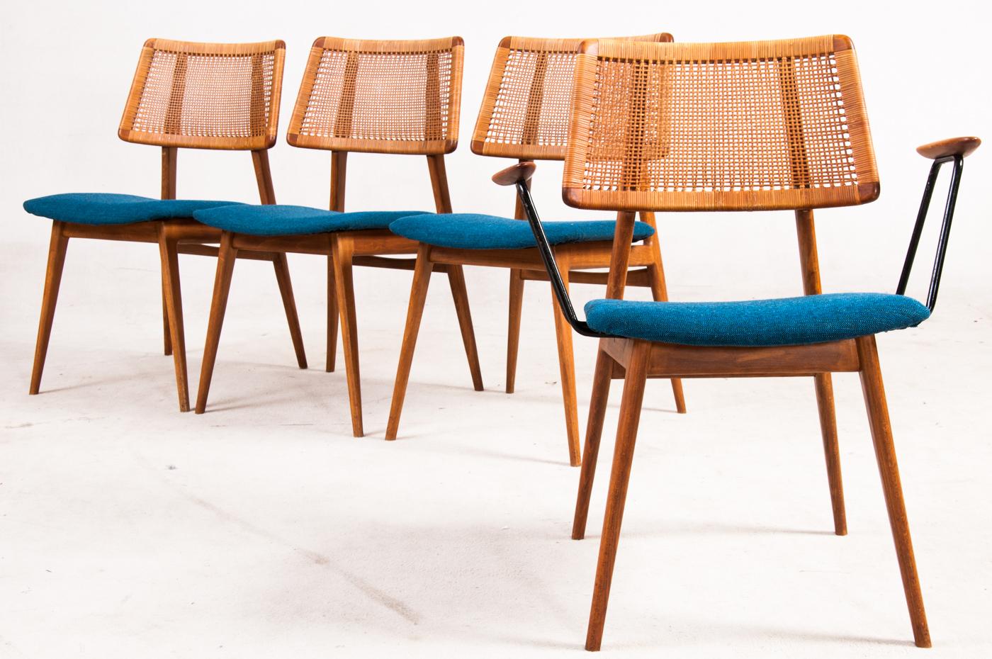 Auktionstipset - 4 Habeo Stühle, davon einmal mit Armlehnen (4)