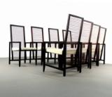 Franco Bizzozero, Set Armlehnstühle Modell Astoria für Pierantonia Bonacina (8)