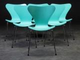 Arne Jacobsen.  'Syveren' stole, model 3107 Turkis -grøn (6)