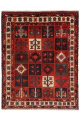 Persisk Bakhtiari tæppe, 192 x 153 cm.