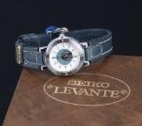 Seiko 'Levante'. NOS dameur i stål med originalt etui, ca. 1980'erne