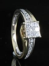 18kt diamond ring approx. 0.50ct
