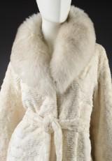 Brdr. Alex Petersen. Mink coat, white mink, size 40/42