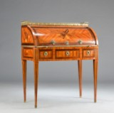 A small Louis XVI ladies cylinder writing desk, presumably Russian, 18th century