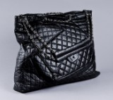 Chanel, sort quiltet shopper
