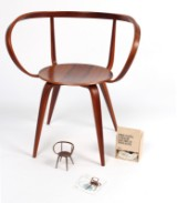 George Nelson, chair, model 'Pretzel chair', limited anniversary model + model by Vitra