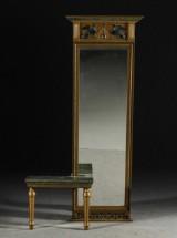 Spegel med konsolbord, sengustaviansk stil, 1900-talets första hälft
