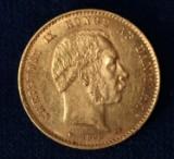 Chr.IX 20 kr. guld 1890 kv:1+-01. (1)