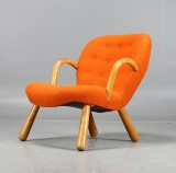 Attributed to Philip Arctander, Clam Chair