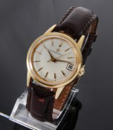 Eterna Matic. Vintage men's watch, 18 kt. gold with date, 1950-60s