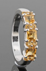 Yellow citrine ring approx. 0.88ct