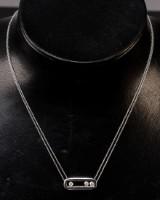 Necklace with diamond pendant, 0.30 ct.