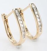 Par diamantøreringe fra byfrisenholm, 14 kt. guld, ca. 0.26 ct. (2)