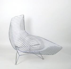 Harry Bertoia Wire Lounge Liege Modell Asymmetric Chaise Fur Knoll International