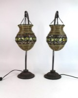 Paar indischen Tischlampen (2)