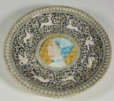 Large wall plate, Edmond Lachenal 1892, ceramic