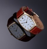 Large Rolex Cellini ladies' watch, 18 kt. gold, white dial, c. 1971