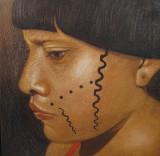 Unbekannter Künstler, Acryl auf Leinwand, ' Ohne Titel '