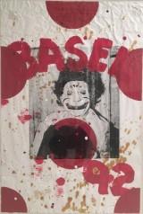 Ford Beckman, silkscreen/acrylic on paper, Clown-Basel 1992