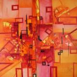 Bozena Ossowski, olie på lærred, 'Red Illusion'