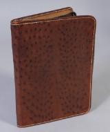Mark Cross, dokumentmapp / folio, strutsskinn, 1950-tal